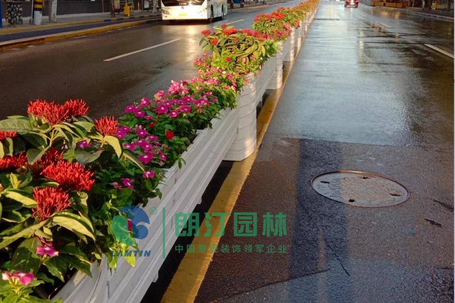 上海進博會道路綠化花箱